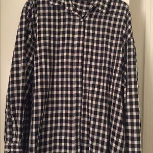 Oversized Checked Plaid Shirt